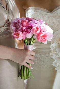 rose, idea, bridal bouquets, dress, pink wedding flowers, pink weddings, bridesmaid bouquets, pink bridal, pink tulip