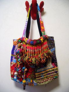Upcycled Bohemian Patchwork Tote bag by ApricotCircus