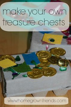Make Your Own Treasure Chest-  Perfect for a Peter Pan or Pirate Themed Party  (Homegrown Friends)