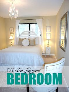 DIY ideas for bedrooms. Check out the great budget decorating ideas in this post!