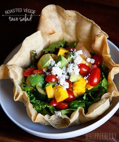 Roasted Veggie Taco Salad by WhipperBerry