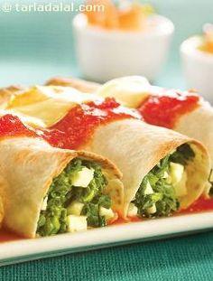 Enchiladas ( Healthy Diabetic Recipe ) recipe from Tarladalal.com