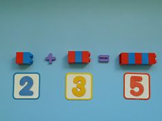 Elaine Ng Friis: Montessori Activity: Teaching Addition with Lego Brick Number Rods