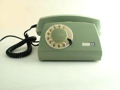 vintage green rotary telephone by ArtmaVintage on Etsy. $62.00, via Etsy.