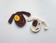 appliqu crochet, dogs, dog appliqu, carolina guzman, applique patterns, appliques, crochet patterns, ornaments, crochet appliqu