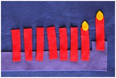 No-sew, easy DIY felt menorah
