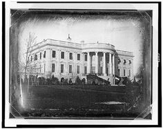 1846 Daguerreotype of the White House by John Plumbe