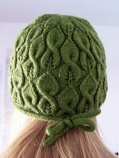 Cable & Lace Knit Hat...Free Pattern
