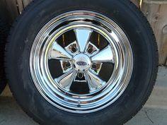Close up of brand new Cragar SS wheel (chrome).