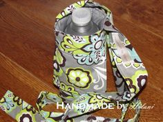 Refresh Restyle - Water Bottle Carrier with Front Pocket via @Handmade by hilani