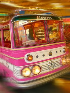 I'd love to ride the PINK bus!