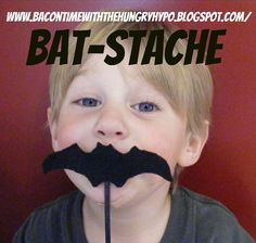 Batman Bat Stache photobooth prop #tutorial