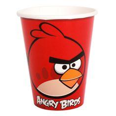 Vasos desechables para una fiesta Angry Birds - de www.fiestafacil.com, $2.65 / Disposable cups for the Angry Birds party - from www.fiestafacil.com