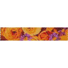 peyote+stitch+patterns | Drop Peyote Stitch Bracelet #3 Pattern