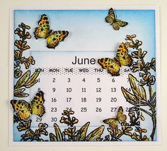 Handmade, beautiful mini-calendar. Perfect for scrapbooking, gifts, or decor by Suzanne Czosek