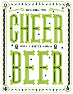 Spread the Cheer with a Smile and a Beer