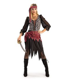 Another great find on #zulily! Black & Red Pirate of the Seas Costume Set - Women by Rubie's #zulilyfinds