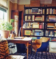 masculine, male, interior design, leather, library, study, mahogany, living room, gentleman, gentlemen, leather Libraries, Spaces, Desks Chairs, Interiors, Markham Robert, Bookcas, Animal Prints, Leather Chairs, Home Offices