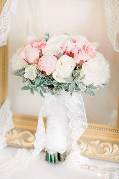 Pretty pastels framed by soft greenery / Photo by Anastasiya Belik