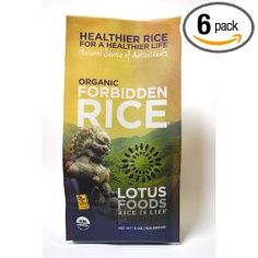 Lotus Foods Organic Forbidden Rice, 15-Ounce (Pack of 6)