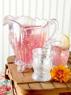Mosser Dahlia Glassware captures the essence of the season.