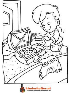 Vakantie kleurplaten on pinterest coloring pages camping and strands - Slaapkamer meisje jongen samen ...