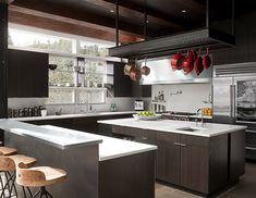 Kitchen of Art House by DeForest Architects. Photos © John Granen