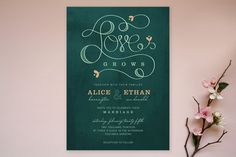 Love Grows Wedding Invitations by Aspacia Henspett... - Wedding Stationery by Minted - Loverly