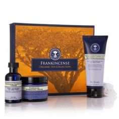 Frankincense Organic Spa Collection 30% off at time of Pinning. Ideal for your Mum on Mother's Day.  • Rejuvenating Frankincense Refining Cleanser 100g • Organic Muslin Cloth • Rejuvenating Frankincense Toner 50ml • Frankincense Hydrating Cream 50g