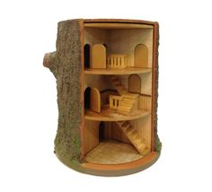 Revolving dolls house by AmariasPaperWorks on Etsy, $310.00