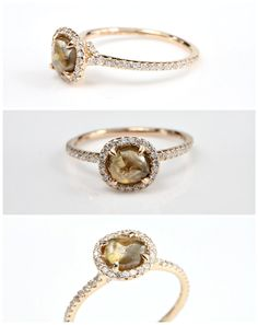 The perfect amount of roughness in a diamond! A white one set in the vintage ring :)