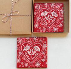 Christmas reds via MayaGencic at http://www.etsy.com