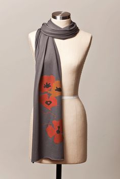 Poppy shapes scarf by Flytrap, $25