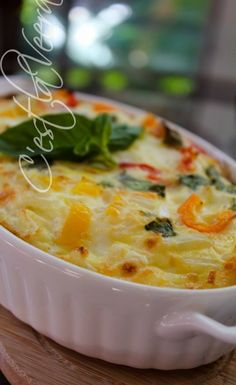 Baked Breakfast Omelette - use whatever veggies, meat, cheese you want!