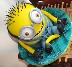 Minion Cake by Callicious Cakes, Stoke-on-Trent, UK. You'll find this Cake Appreciation Society Member in our Directory at www.cakeappreciationsociety.com