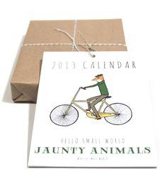 too sweet, jaunty animals calendar from hello small world