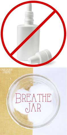 """Make Your Own """"BREATHE JAR"""" To Relieve Sinus Congestion 