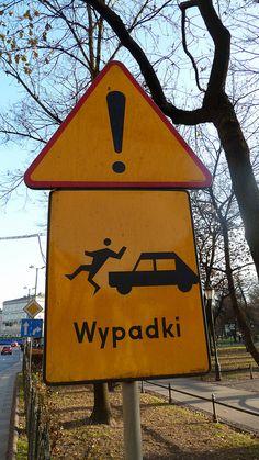 Polish traffic sign