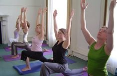 Yoga exercises and breathing techniques for asthma
