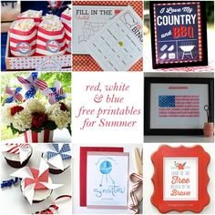 Kid Activities: Red, White and Blue Worksheets