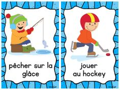Les Activités D'Hiver - French Mini Posters with images for winter activities (Freebie!!!!)