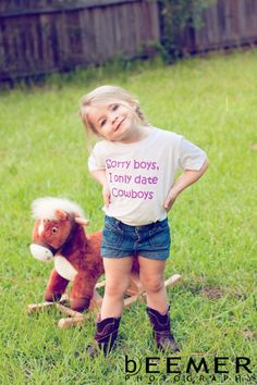 haha. adorable! little girls, country boys, country girls, daughter, cowgirl, baby girls, future kids, smart girls, shirt