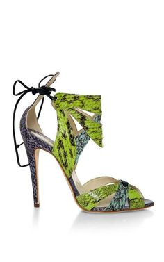 Uma Snakeskin Sandals by Brian Atwood Now Available on Moda Operandi