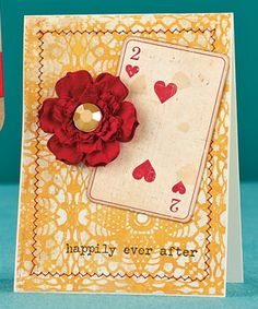 Two of Hearts Card by @Vanessa Samurio Menhorn
