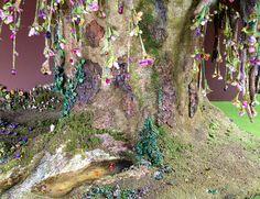 Fairy house tree trunk dollhouse miniature by Torisaur