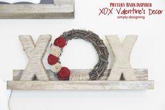 pottery barn inspired, craft, potteri barn, wreath