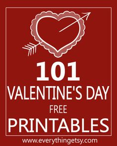 101 Valentine's Day Printables {free} - EverythingEtsy.com