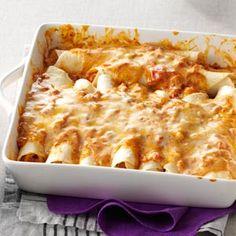 Simple Creamy Chicken Enchiladas