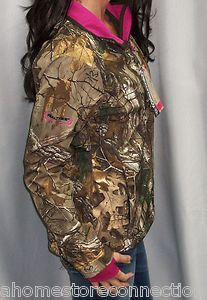 Realtree Womens Softshell Camo Pink Hunting Jacket Under Armour