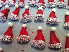 Santa hat party mix...with caramel Bugels as the hats